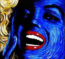 Marilyn Monroe in blue 001 by Greg Allen