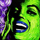 Marilyn Monroe in green 001 by Greg Allen