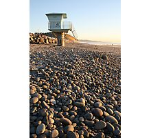 Pebbles and Tower Photographic Print