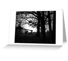 Old Barn and Trees Greeting Card