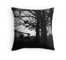 Old Barn and Trees Throw Pillow