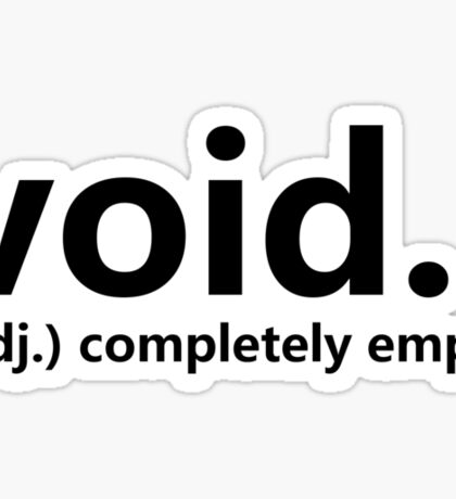 Dictionary Collection - Void Sticker