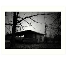 Shed under trees Art Print