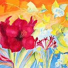 Amaryllis and Morning Glories by henrytheartist