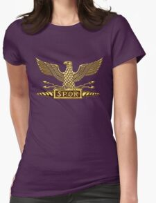 Legion Eagle Gold Womens Fitted T-Shirt