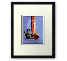 Guarding my last rolo for you.... Framed Print