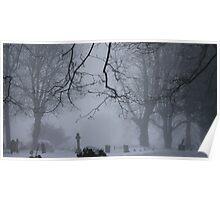 A misty churchyard Poster