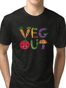Veg Out - dark colors Tri-blend T-Shirt
