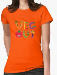 Veg Out - dark colors Womens Fitted T-Shirt