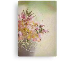 Flower bucket Canvas Print