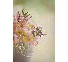 Flower bucket Photographic Print