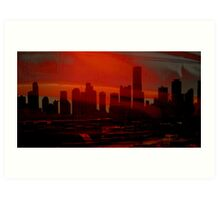 Sleepy City of Miami Art Print