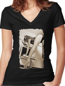 Whats in your Kitchen Women's Fitted V-Neck T-Shirt