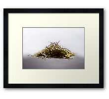 Pulled Plastic Series: 1 of 3 Framed Print