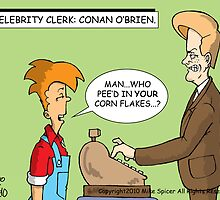 Celebrity Clerk: Conan O'Brien by Mike Spicer