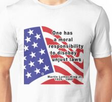 "Martin Luther King Jr. ""Disobey Unjust Laws"" Unisex T-Shirt"