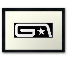 Groove Armada White Logo Framed Print