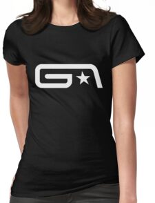 Groove Armada White Logo Womens Fitted T-Shirt