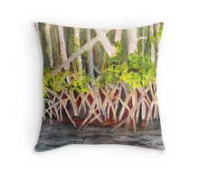 Mangrove at Gumbo Limbo Throw Pillow