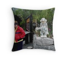 People and Trolls Throw Pillow
