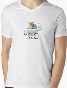 Racing Baby Mens V-Neck T-Shirt