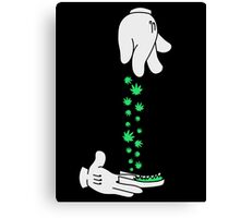 Mickey Mouse hand rolling it up Canvas Print