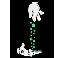 Mickey Mouse hand rolling it up Photographic Print