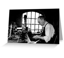 Leather Worker Greeting Card