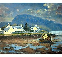 Plockton, Scotland at LowTide Photographic Print