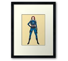 Captain Widow Framed Print
