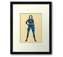 Captain Widow Framed Print
