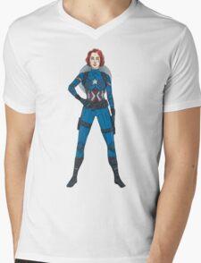 Captain Widow Mens V-Neck T-Shirt
