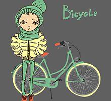 girl with bicycle by OlgaBerlet