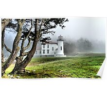 Lighthouse in the Fog Two Poster