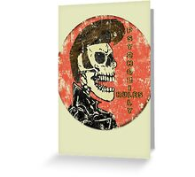 Psychobilly Rules Greeting Card