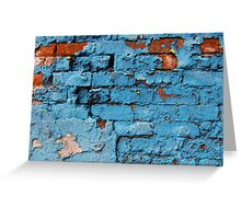 Red Brick Blue Paint Greeting Card