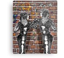 Graffiti Hearts [Digital Figure Illustration] Metal Print