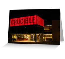 The Crucible, Sheffield Greeting Card