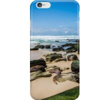 Beach with Mossy Rocks iPhone Case/Skin
