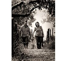 Family Walks Photographic Print