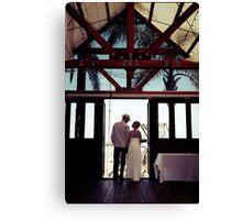 K&W Wedding Canvas Print