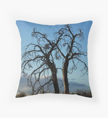 Gnarly Trees Throw Pillow