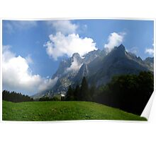 The Wetterhorn in the Swiss Alps Poster