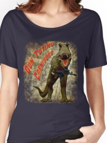 T-Rex, Gun Toting Carnivore Women's Relaxed Fit T-Shirt