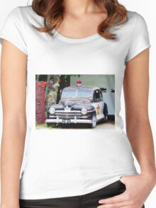 Vintage Police Car Women's Fitted Scoop T-Shirt