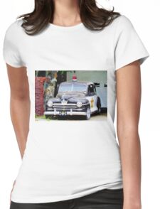 Vintage Police Car Womens Fitted T-Shirt