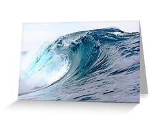Empty Blue Lefts Greeting Card