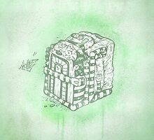 Boxed Mime (Green) by tomhanch
