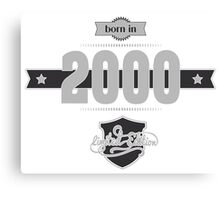 Born in 2000 (Light&Darkgrey) Canvas Print