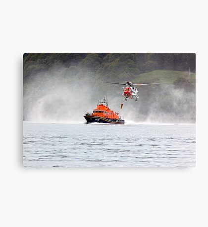 Tobermory Lifeboat Demonstration Canvas Print